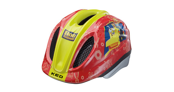 KED Meggy Original Lapset kypärä Bob der Baumeister , keltainen/punainen